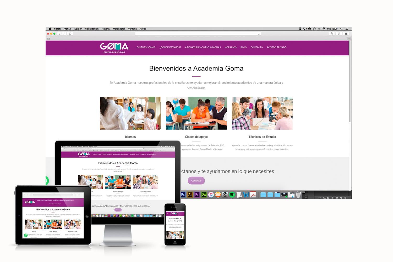 diseno-web-academia-goma-love-studios