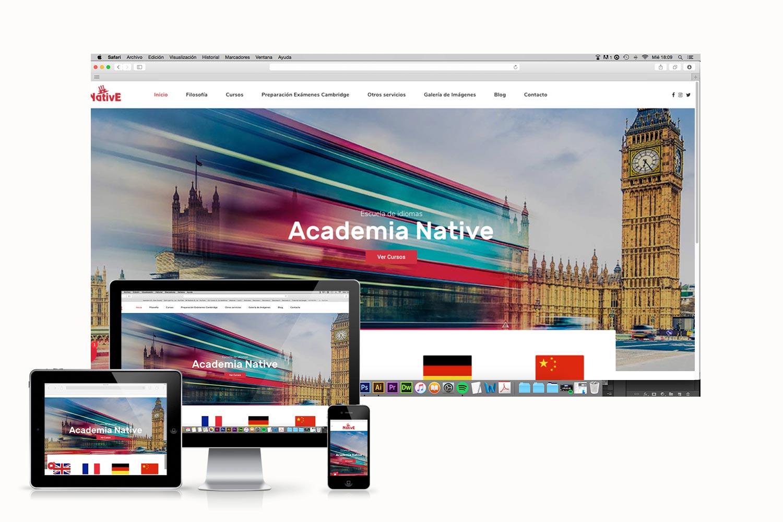 diseno-web-academia-native-love-studios